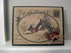 Snowy Postcard by incindiary - Cards and Paper Crafts at Splitcoaststampers