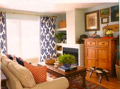 Amy Meier design...kalah blue fabric curtains!