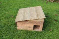 Cabane pour hérissons avec du bois de palette