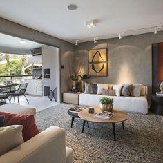 Sala de estar com varanda gourmet integrada Carlos Rossi - 15632 no Viva Deco .