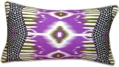 Pillow Decor  Electric Ikat Purple 15x27 Throw Pillow ** You can get more details by clicking on the image.