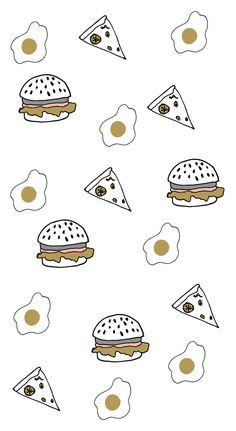Who said a diet of burgers, pizza, and eggs was a bad thing? Download this free Doodles BeautyMarks wallpaper to give your phone a delicious makeover!