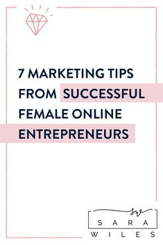 7 Marketing Tips from my FAVORITE Female Online Entrepreneurs. One of my FAVORITE things about running an online business is that I meet and connect with women all over the world. If I hadn't started a virtual assistant business, and become a virtual assistant mentor, I'd never have the opportunity to learn from them or to support them. #entrepreneur #fempreneur