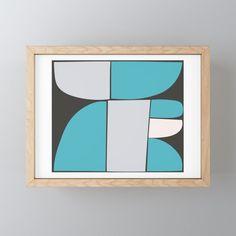 Modern Geometric Design Framed Mini Art Print by kitchensinkprintshop Geometric Wall Art, Colorful Wall Art, Rustic Feel, Decorating On A Budget, Retro Design, Minimalist Home, Wall Ideas, Painting & Drawing, Gallery Wall