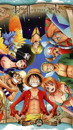 """Anime """"One Piece"""" (gang of straw) - iPhone6 wallpaper"""