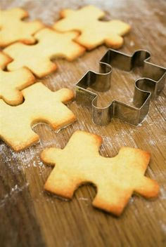 Autism Puzzle shaped Cookies