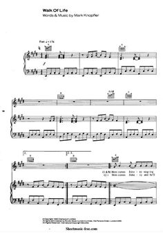 rock piano sheet music pdf