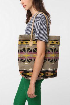 tote bag -- looks like a repurposed blanket