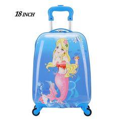 "18"" inch Children Luggage Suitcase,Child Kid Boy Girl Princess Cat ABS Cartoon trolley case box Traveller Pull Rod Trunk                                                                                                                                                                                 More Kids Luggage, Luggage Suitcase, Trolley Case, Luggage Brands, Kids Boys, Trunks, Abs, Cartoon, Children"