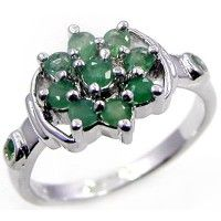 1.00ctw Genuine Emerald & Solid .925 Sterling Silver Gemstone Ring (SJR1051EMR), birthstone rings. Buy Now: http://www.sterlingsilverjewelry.tv/genuine-emerald-925-sterling-silver-gemstone-ring-sjr1051emr.html #SterlingSilverJewelry #silverrings #sterlingsilverrings #ringsilver #silverringdesigns #handmaderings #silverringssterling #Rings #RingsJewelry