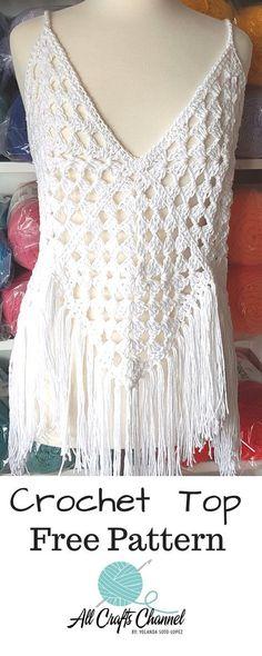 Breezy, Beautiful Crochet Top Enjoy this beautiful crochet top. It's so easy to crochet. Full written, photo and video tutorial.Enjoy this beautiful crochet top. It's so easy to crochet. Full written, photo and video tutorial. Crochet Tank Tops, Crochet Summer Tops, Crochet Shirt, Diy Crochet, Crochet Vests, Crochet Sweaters, Crochet Bodycon Dresses, Black Crochet Dress, Crochet Bolero