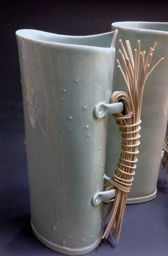 Image result for mixed media ceramic and willow