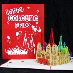 POP UP Karte Köln  Cologne Pride