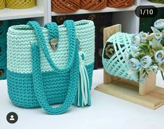 Best 12 40 Free Crochet Patterns And Ideas For Bags, Purses, And More - Diy & Craft Crochet Basket Pattern, Crochet Patterns, Crochet Ideas, Hand Knit Bag, Crochet Handbags, T Shirt Yarn, Love Crochet, Knitted Bags, Crochet Designs