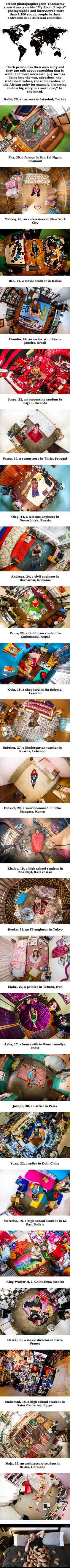 24 Intimate Photos Of Millennials' Bedroom From Around The World (By John Thackwray) - 9GAG