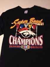 Super Bowl XXXII Denver Broncos CHAMPIONS black t-shirt XL