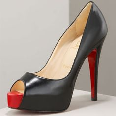 Christian Louboutin Patent Leather Peep Toe Pumps .... Best gift ever!! Thank you my love!!