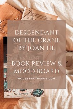 Here's my review of Joan He's 'Descendant of the Crane'. Thank you to Titan Books for sending me a copy. This is an intriguing, newly released Young Adult Fantasy book with engaging and distinct characters!  mousethatreads.com | mousethatreads | the little mousethatreads | book blogger | blog post | book blog post | new books Fantasy Book Reviews, Fantasy Books, Bad Feeling, Writing Styles, Descendants, Crane, Audio Books, New Books, Something To Do