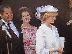 July 12, 1983: Princess Diana was accompanied by her father and stepmother, at the opening of a new Psychiatric Unit, named after the Spencer family, at St Andrews Hospital, Northampton.