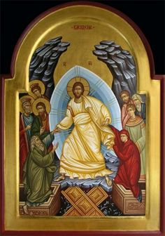 The Resurrection of Christ Religious Icons, Religious Art, Christ Is Risen, Jesus Christ, Greek Icons, Roman Church, Byzantine Icons, Orthodox Icons, King Of Kings