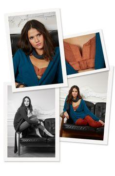 Margot for Comptoir des Cotonniers -   NEAUDLE cardigan, NEWMOPPY jean