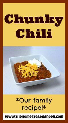 Chunky Chili Recipe