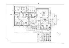 Egyszintes családi ház 195 m2 | Családiházam.hu Beautiful House Plans, Beautiful Homes, Floor Plans, How To Plan, Gallery, Modern, Houses, House Of Beauty, Trendy Tree