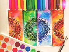 Hey guys! Multicoloured Mandala, I used watercolour and sharpies to create the…