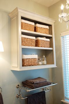 great idea for extra storage in guest bath