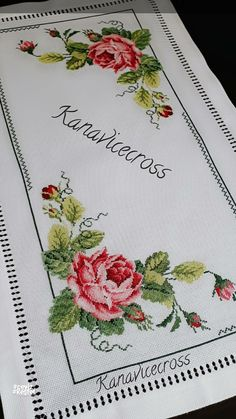 Cross Stitch Rose, Cross Stitch Flowers, Bed Covers, Hobbies And Crafts, Alphabet, Bullet Journal, Embroidery, Crochet, Herb
