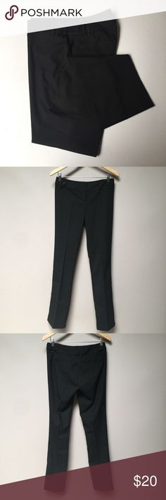 """New York and Co. Black Straight Leg Pant **Wore Once to an interview**LIKE NEW • S:69%Polyester 29%Rayon 2%Spandex  • Imported   Measurements (Laid Flat): • Waist: 14.5"""" • Length: 41"""" • Hips: 16""""  • Rise: 9"""" New York & Company Pants Straight Leg"""