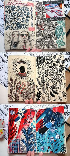 Sketchbook pages by Anna Aniskina