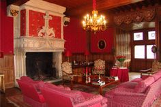 Red livingroom...