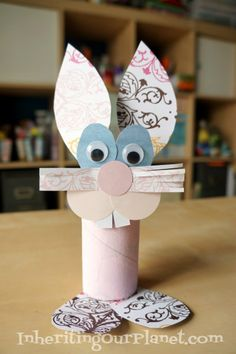 How to make aToilet Paper Roll Bunny- Craft for kids #recycledcraft