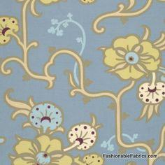 Fabric... Gypsy Caravan Velvet Vine in Stainless by Amy Butler