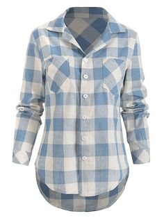 Long Sleeve Tops, Long Sleeve Shirts, Plaid Fashion, Men Fashion, Ladies Fashion, Queen, Jean Shirts, Blouses For Women, Cheap Blouses