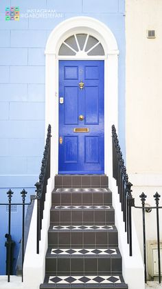 A pretty blue door from Notting Hill.