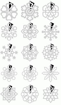 scherenschnitt schneeflocken