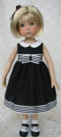 Black & White Polka Dot Dress for Little Darling, Effner …