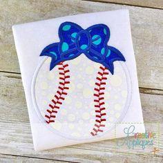 fa4ff9196 Baseball Softball Bow Digital Machine Embroidery Applique Design 4 Sizes by  CreativeApplique Applique Embroidery Designs