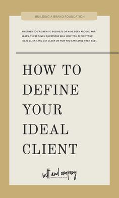 Whether you're new to business or have been around for years, these seven questions will help you define your ideal client and get clear on how you can serve them best.