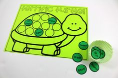 Astrobrights Green Turtle Freebie by Tunstall's Teaching Tidbits | Nominate a Bright Teacher at colorizeyourclassroom.com