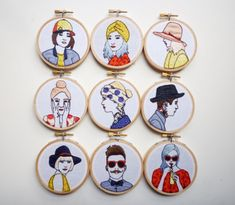 Red lips, pale pink hair and perfectly matching wardrobes in the brand new 'Hipster Embroideries' by Amy Dawson. On the blog! http://www.artisticmoods.com/amy-dawson-2/