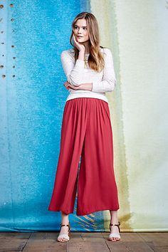 Skirted Tulip Wide-Legs - anthropologie.com