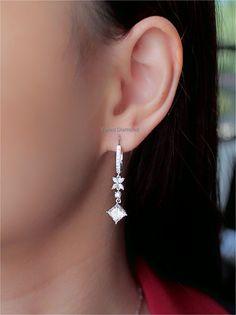 Princess diamond earrings 1.20+1.20 ct I color VS1-VS2 Princess Cut Diamond Earrings, Princess Cut Diamonds, Diamond Cuts, Jewellery, Color, Jewels, Schmuck, Colour, Jewelry Shop