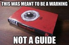 '1984' by George Orwell on Bordom.net