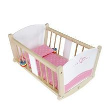 Hape Happy Doll Wooden Furniture - Highchair,stroller,cradle And Changing Table