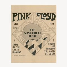 Wizardo: Pink Floyd 'The Screaming Abdab' live 1974 Empire Pool, Wembley, London. Sound quality is very good mono
