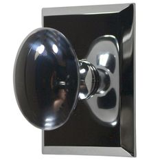 Traditional Oval Door Knob (Polished Chrome Finish)