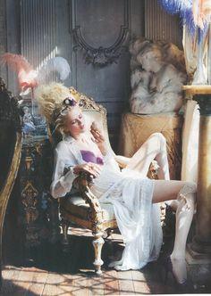 'Petit Trianon' ~ Anna Ilnytska as Marie Antoinette by Pascal Chevallier for Vanity Fair Italy, 2011